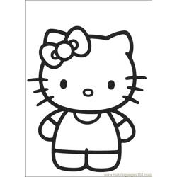Hello Kitty 07 Free Coloring Page for Kids