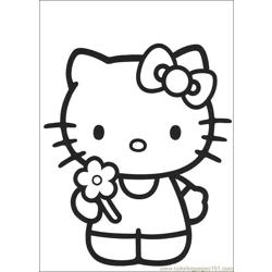 Hello Kitty 08 Free Coloring Page for Kids