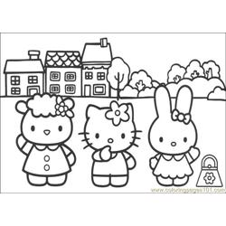 Hello Kitty 09 Free Coloring Page for Kids
