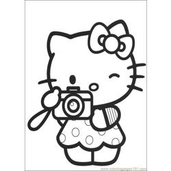 Hello Kitty 10 Free Coloring Page for Kids