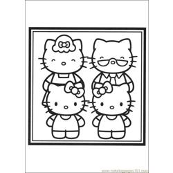 Hello Kitty 11 Free Coloring Page for Kids
