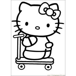 Hello Kitty 12 Free Coloring Page for Kids