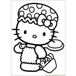 Hello Kitty 13 Free Coloring Page for Kids