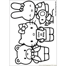 Hello Kitty 14 Free Coloring Page for Kids