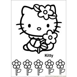 Hello Kitty 15 Free Coloring Page for Kids
