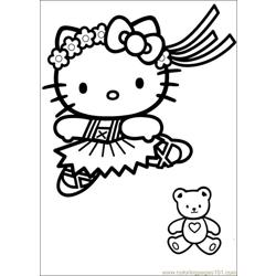 Hello Kitty 16 Free Coloring Page for Kids