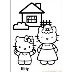 Hello Kitty 17 Free Coloring Page for Kids