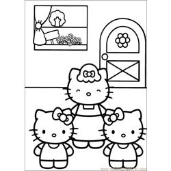 Hello Kitty 18 Free Coloring Page for Kids