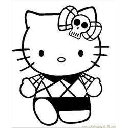 Hellokitty1 Free Coloring Page for Kids