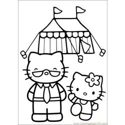 Hello Kitty 20 Free Coloring Page for Kids