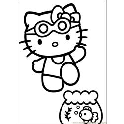 Hello Kitty 21 Free Coloring Page for Kids