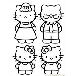 Hello Kitty 22 Free Coloring Page for Kids