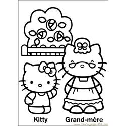 Hello Kitty 23 Free Coloring Page for Kids