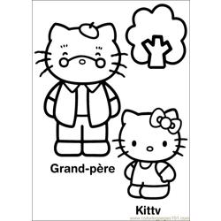Hello Kitty 24 Free Coloring Page for Kids