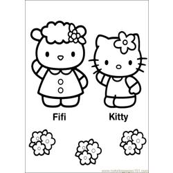 Hello Kitty 27 Free Coloring Page for Kids