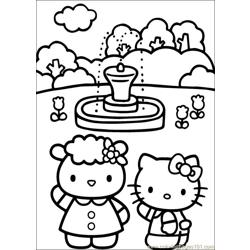 Hello Kitty 28 Free Coloring Page for Kids