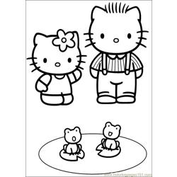Hello Kitty 29 Free Coloring Page for Kids