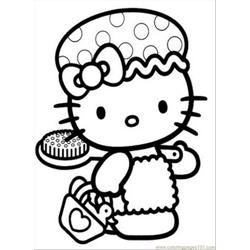 Hellokitty2 Free Coloring Page for Kids