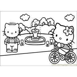 Hello Kitty 30 Free Coloring Page for Kids