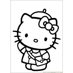 Hello Kitty 31 Free Coloring Page for Kids