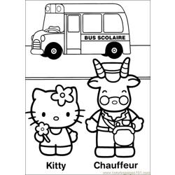 Hello Kitty 32 Free Coloring Page for Kids