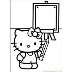 Hello Kitty 33 Free Coloring Page for Kids