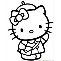 Hellokitty4 Free Coloring Page for Kids