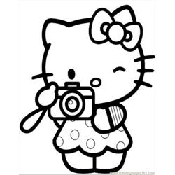 Hellokitty5 Free Coloring Page for Kids