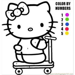 Hellokitty7 Free Coloring Page for Kids