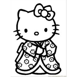 Hellokitty Free Coloring Page for Kids