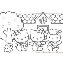 Kitty (1) Free Coloring Page for Kids