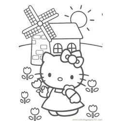 Kitty Free Coloring Page for Kids