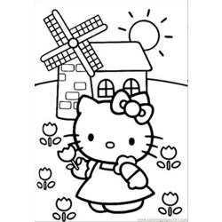 Normal Hellokitty2 Free Coloring Page for Kids