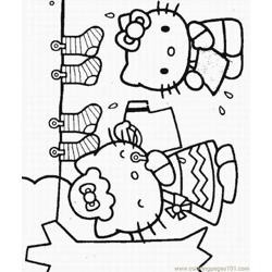 Of Hello Kitty Lrg Free Coloring Page for Kids