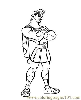 hercules 3 coloring page