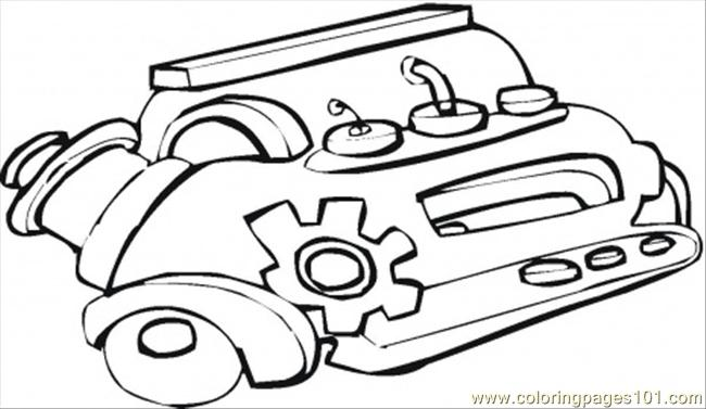 Car Engine Coloring Page