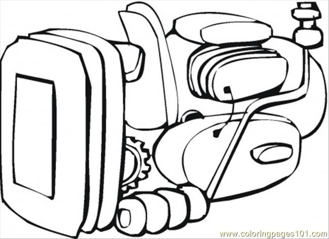Engine Coloring Page