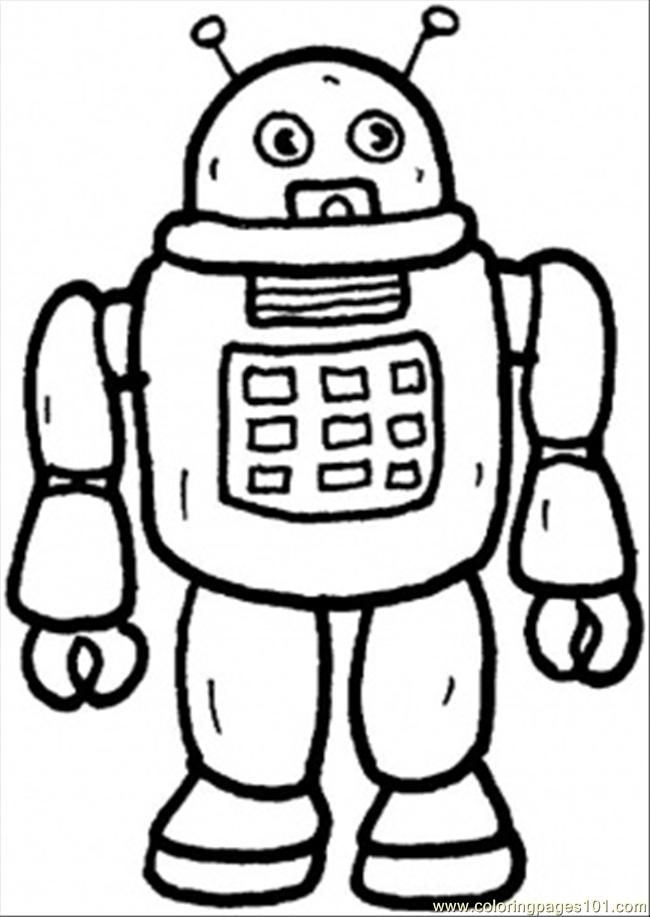 robot from mars coloring page  free hitech coloring