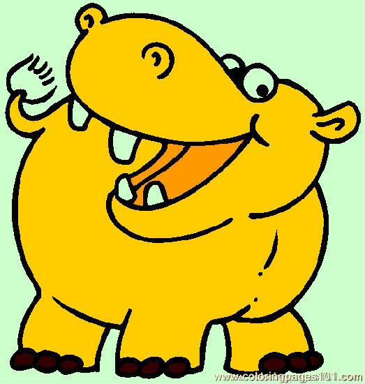 Hippo Coloring Page 05 Coloring Page Free Hippopotamus Coloring