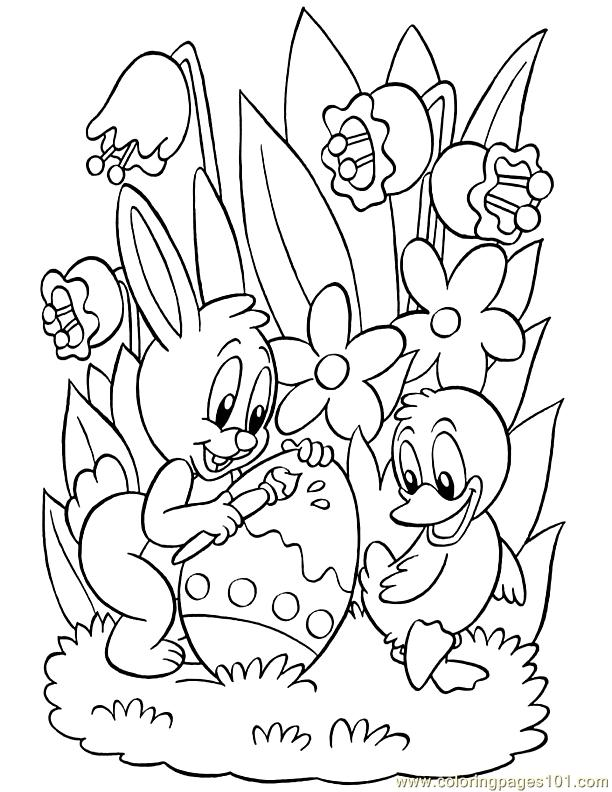 Easter Printable Coloring Pages 001 Easter 55 Coloring Page  Free Holidays Coloring Pages .