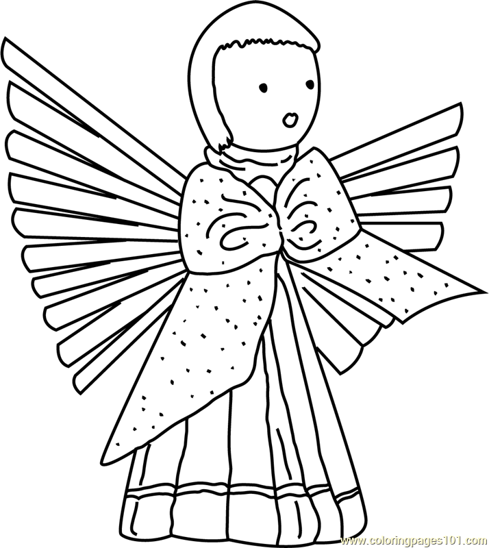 christmas angel coloring page