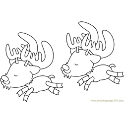 Caribou Free Coloring Page for Kids