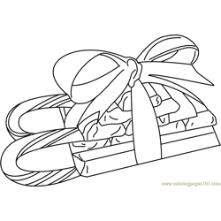 Candy Sleigh Free Coloring Page for Kids