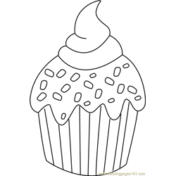 Christmas Ice cream Free Coloring Page for Kids