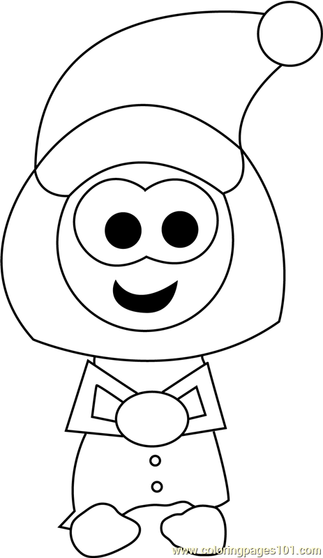 Christmas Cartoon Coloring Page