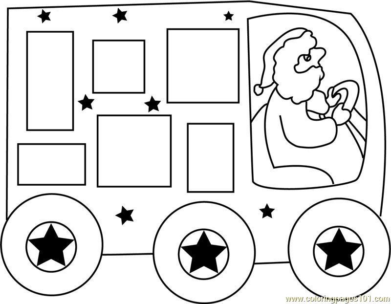 Christmas Express Coloring Page