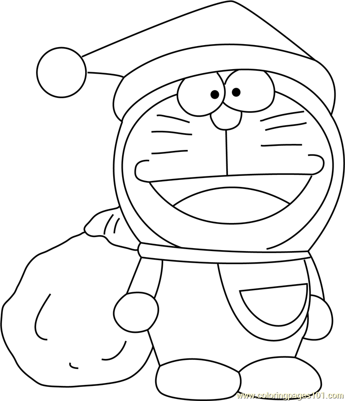 Garfield Santa Claus Coloring Page
