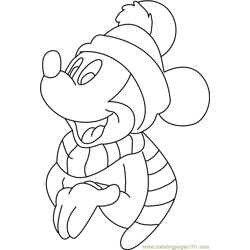 Disney Christmas Mickey Mouse s Free Coloring Page for Kids