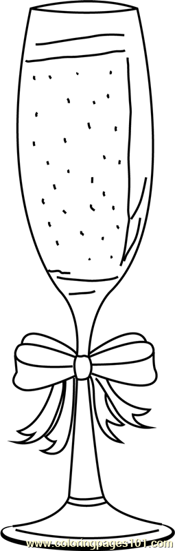 Christmas Champagne Coloring Page
