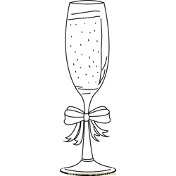 Christmas Champagne Free Coloring Page for Kids